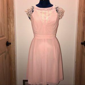 Lace Detail A-Line Dress